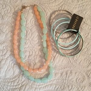 Forever 21 necklace and bracelets